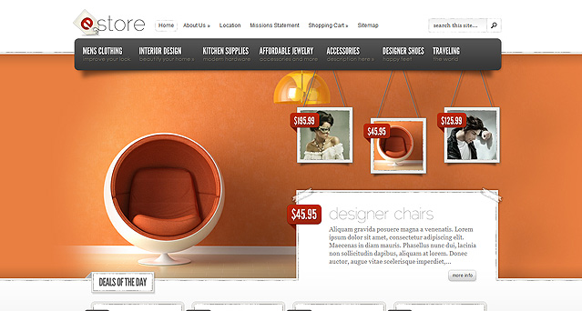 Download eStore eCommerce WordPress Theme Free