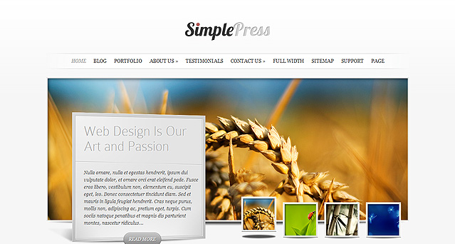 Download SimplePress Simple WordPress Theme Free